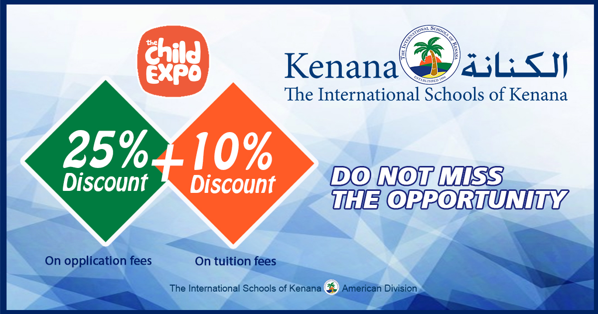 International Schools of Kenana, American Division is extending its Child Expo's school offer till the end of the week at the school's premises. Do not miss the opportunity to join the National or American System with ISK.