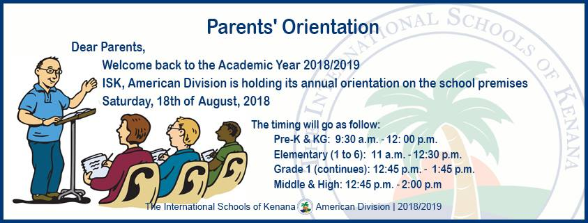 International Schools of Kenana | American Division - Parents' Orientation