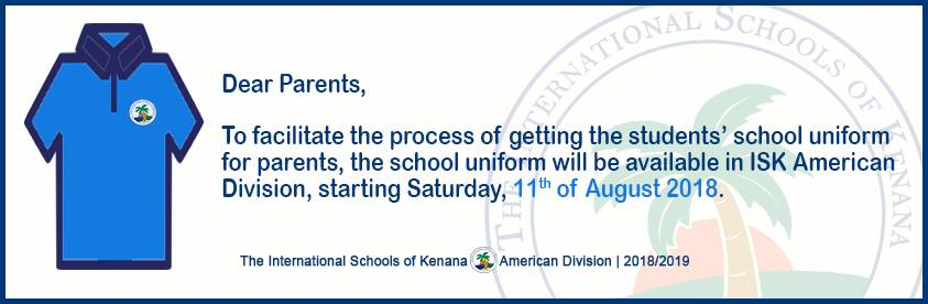 International School of Kenana | American Division - The School Uniform