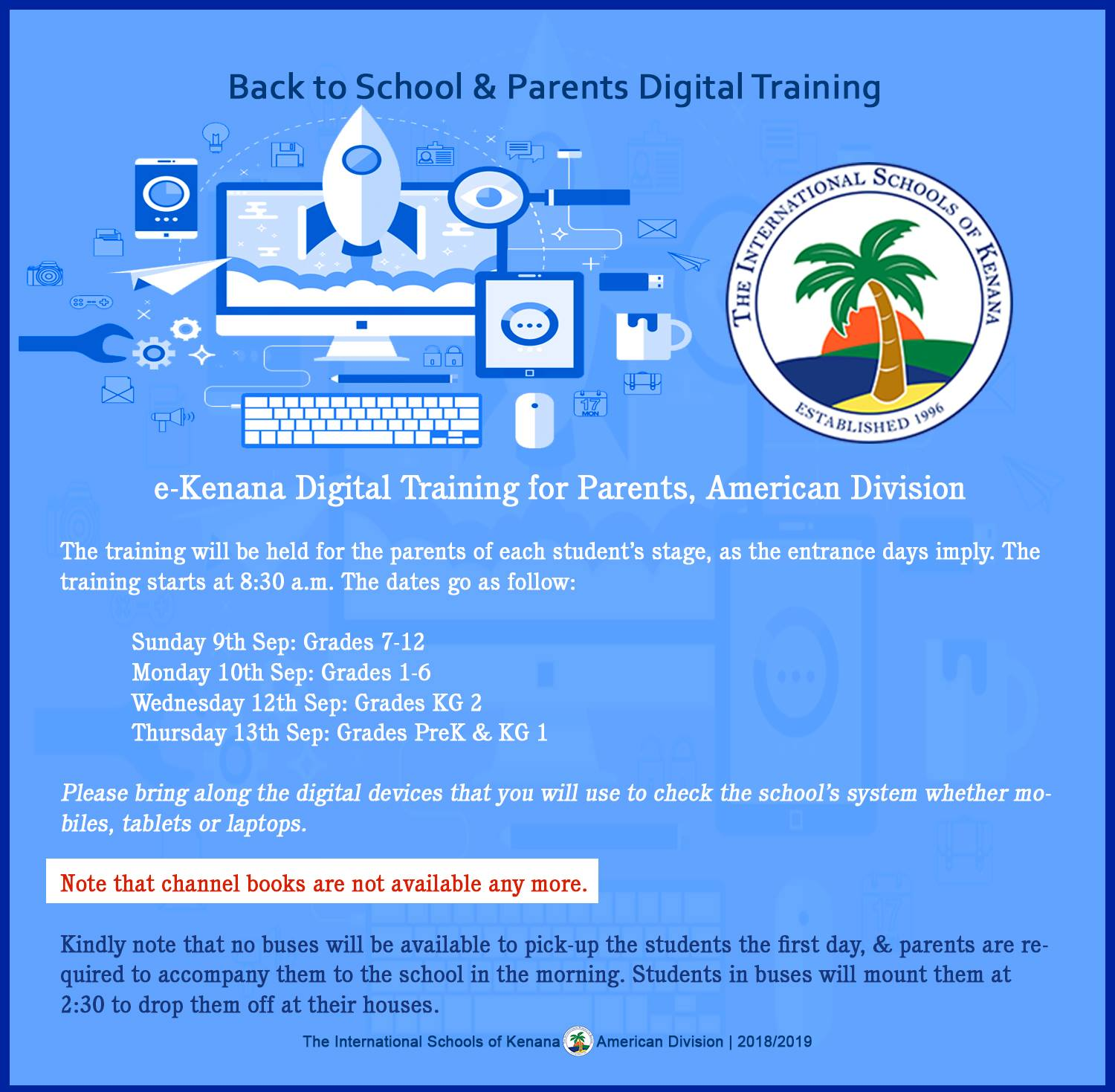 International Schools of kenana | American division - Parents Digital Training